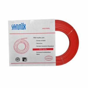 Труба из сшитого полиэтилена SANMIX-PEXb 16 PN12.5 (для теплых полов) красная БУХТА - 200м