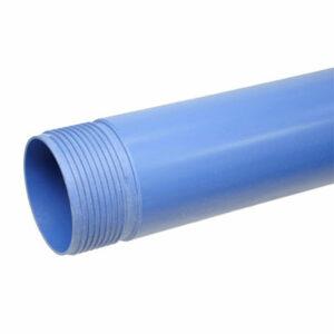Труба обсадная с резьбой ф125 3м (толщина 5,0мм) НПВХ