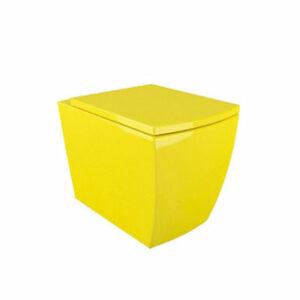 Унитаз подвесной G-050 (желтый) (сиденье дюропласт в комплекте)