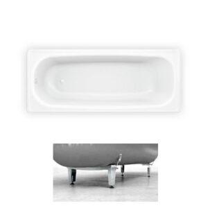 Ванна стальная BLB Europa 160*70*38 см. белая (с ножками 2,5мм скотч + болт)