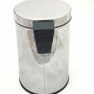 Ведро д/ мусора 3л металл хром (GH001)