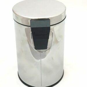 Ведро д/ мусора 5л металл хром (GH002)