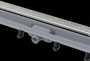 Водоотводящий желоб ALCAPLAST с решеткой из нерж. APZ10-650 (Чехия)