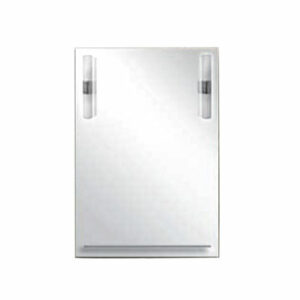 Зеркало 'БЕТТА' 800Х550 С/П и подсветкой (2 светильника) (+крепеж БЕТТА)