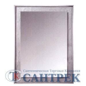 Зеркало для ванной комнаты (F674) FRAP (в белой рамке)