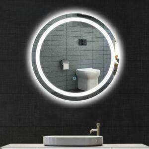 Зеркало для ванной комнаты (G603) GAPPO d-600mm с подсветкой