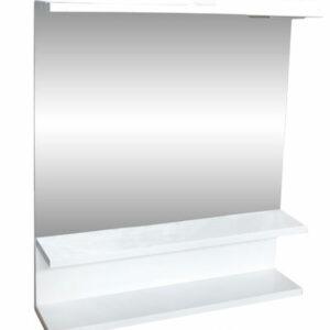 Зеркало 'Лия' (белый) 750*600 (с подсветкой)