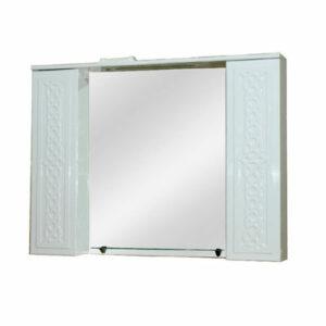 Зеркало-шкаф 'Альба-100' стеклянная полочка (петли Blum) 1000х815х155