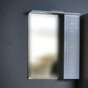 Зеркало-шкаф 'Альба-60' стеклянная полочка (петли Blum) 600х815х155