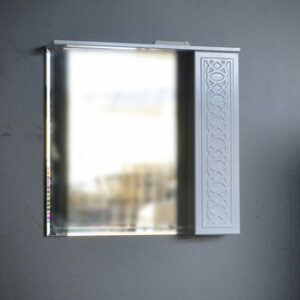 Зеркало-шкаф 'Альба-80' стеклянная полочка (петли Blum) 800х815х155