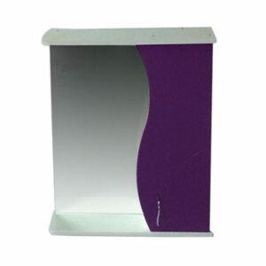 Зеркало-шкаф 'ALLESSANDRO-55' Правый 550х732х150 (белый/Фиолет)