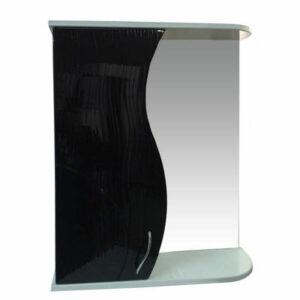 Зеркало-шкаф 'ALLESSANDRO-60' Левый 600х732х150 (белый/черный)