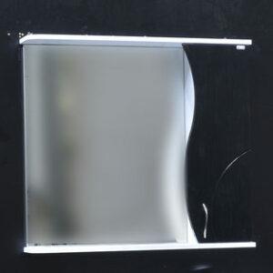 Зеркало-шкаф 'ALLESSANDRO-80' Правый 800х732х150 (белый/черный)