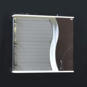 Зеркало-шкаф 'ALLESSANDRO-80' Правый 800х732х150 (Ваниль/Коричневый)