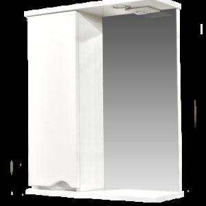Зеркало-шкаф 'Bello-C 60' с подсветкой левый (белый) 600х700х190
