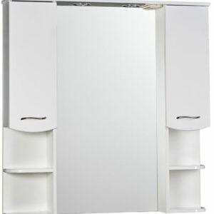Зеркало-шкаф 'ДИАНА 100' (белый), с подстветкой, два шкафчика 1000х1050х200