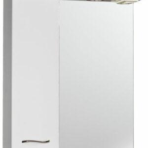 Зеркало-шкаф 'ДИАНА 60' (белый), левый, с подстветкой 600х730х200