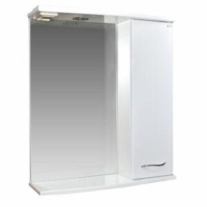 Зеркало-шкаф 'ДИАНА 60' (белый), правый, с подстветкой 600х730х200