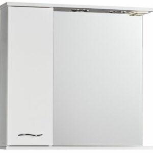 Зеркало-шкаф 'ДИАНА 75' (белый), левый, с подстветкой 750х720х200