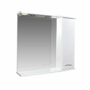 Зеркало-шкаф 'ДИАНА 75' (белый), правый, с подстветкой 750х720х200