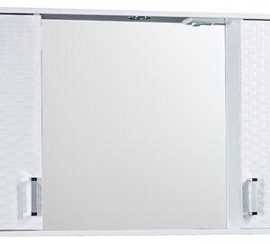 Зеркало-шкаф 'Джульетта-100' 3D Плетение (белый) 1000х650х165
