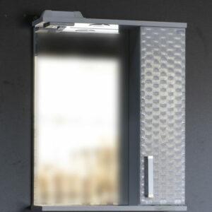 Зеркало-шкаф 'Джульетта-50' 3D Плетение (белый) правый 500х650х150