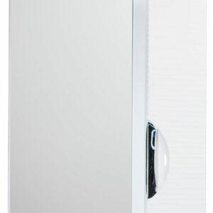 Зеркало-шкаф 'Джульетта-50' 3D Волна (белый) правый 500х650х150
