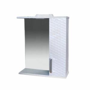 Зеркало-шкаф 'Джульетта-60' 3D Плетение (белый) правый 600х650х150