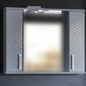 Зеркало-шкаф 'Джульетта-80' 3D Плетение (белый) 800х650х150