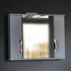 Зеркало-шкаф 'Джульетта-80' 3D Волна (белый) 800х650х150