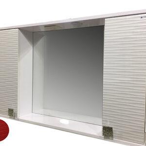 Зеркало + шкаф 'FIESTA-100' волна 3D (гранат мет.) 1000*650*165