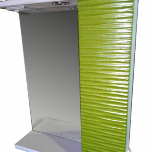 Зеркало + шкаф 'FIESTA-50' волна 3D правый (олива мет.) 500*650*150