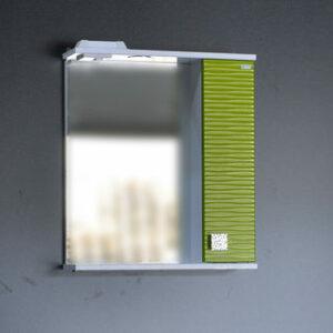Зеркало + шкаф 'FIESTA-55' волна 3D правый (олива мет.) 550*650*150