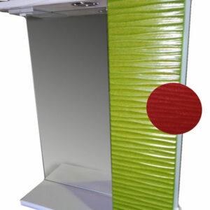 Зеркало + шкаф 'FIESTA-60' волна 3D правый (гранат мет.) 600*650*150
