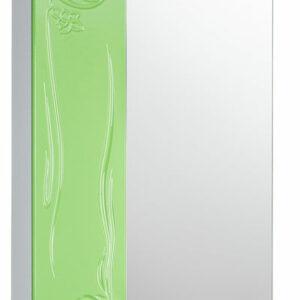 Зеркало-шкаф 'Глория 50' левый (салатовый) 525*705*180