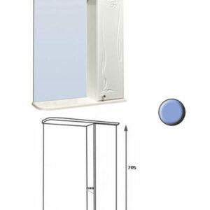 Зеркало-шкаф 'Глория 60' правый (небесный) 625*705*180