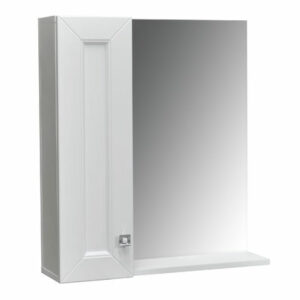 Зеркало-шкаф 'Гранд -60' белый Софт 600х670х170