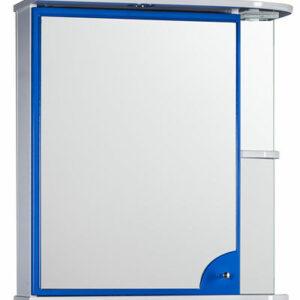 Зеркало-шкаф 'Макарена-65' С левый (синий) 650*700*265