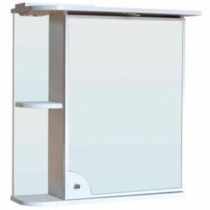 Зеркало-шкаф 'Макарена-65' С правый (белый) 650*700*265