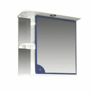 Зеркало-шкаф 'Макарена-65' С правый (синий) 650*700*265