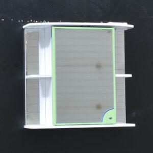 Зеркало-шкаф 'Макарена-75' С левый (салатовый) 750*700*280