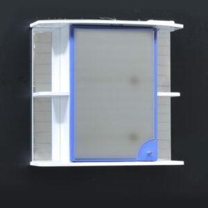 Зеркало-шкаф 'Макарена-75' С левый (синий) 750*700*280