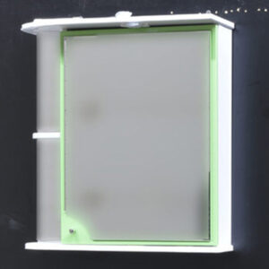 Зеркало-шкаф 'Макарена-75' С правый (салатовый) 750*700*280