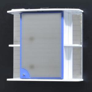 Зеркало-шкаф 'Макарена-75' С правый (синий) 750*700*280