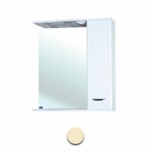 Зеркало-шкаф 'Мальта-50' бежевое правое ЗМ50БЖП 500х722х190