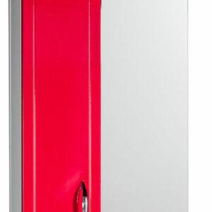 Зеркало-шкаф 'Мальта-50' красное левое ЗМ50КЛ 500х722х190