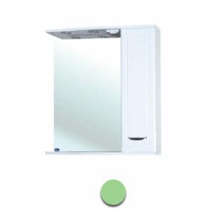 Зеркало-шкаф 'Мальта-50' салатовое правое ЗМ50СП 500х722х190