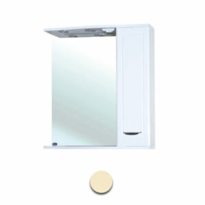 Зеркало-шкаф 'Мальта-55' бежевое правое ЗМ55БЖП 550х722х190