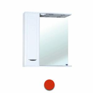 Зеркало-шкаф 'Мальта-55' красное левое ЗМ55КЛ 550х722х190