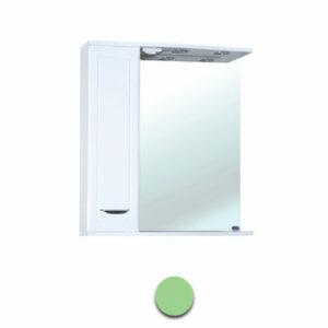 Зеркало-шкаф 'Мальта-55' салатовое левое ЗМ55СЛ 550х722х190